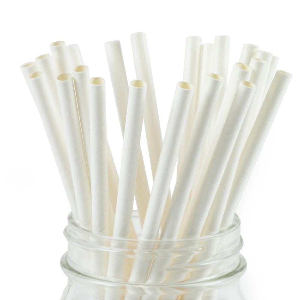 White Paper Straws
