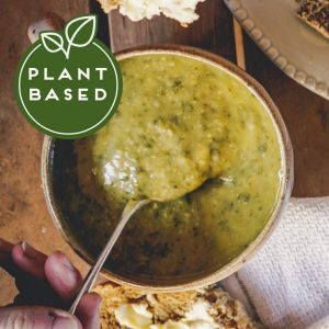 Red Kale Spinach Chickpea Soup