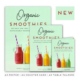 organic smoothies promo pack